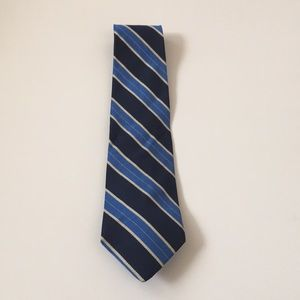 BROOKS BROTHERS navy striped mens tie